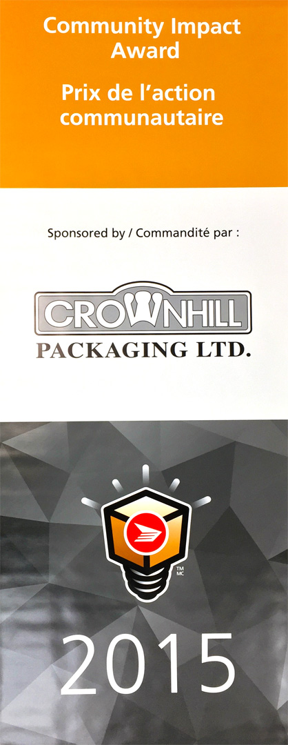 Canada Post Awards Community Impact Award Sponsored by Crownhill Packaging