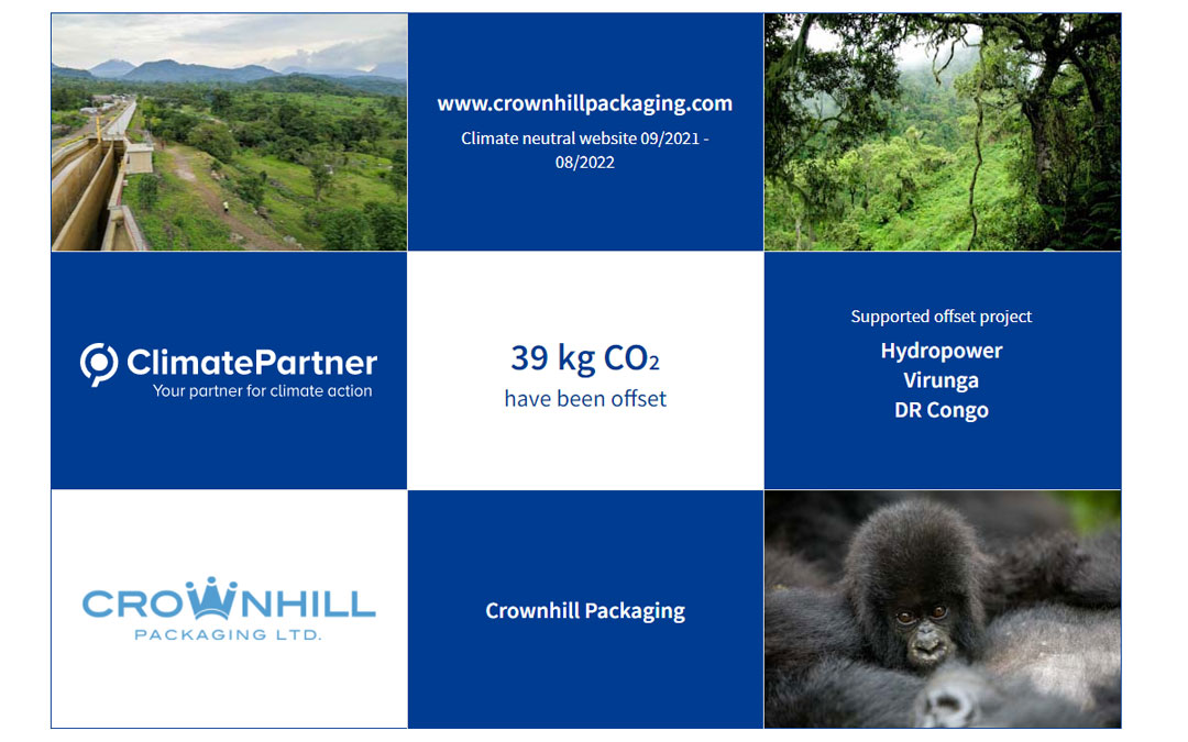 A picture of the ClimateID tracking page for our new climate neutral website.